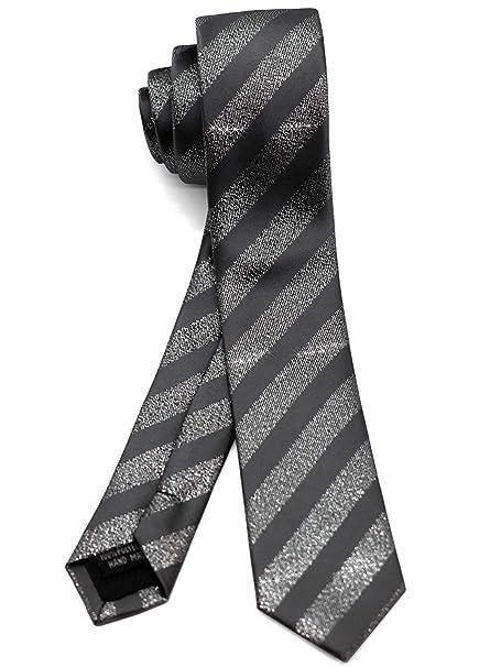 Amazon.com: WANDM corbata delgada y delgada para hombre ...