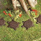 Turtle Stepping Stones Set of 6 Cast Iron Rust Finish