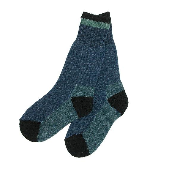 Clear Creek - Calcetines de lana para niños (2 pares) Azul azul Small