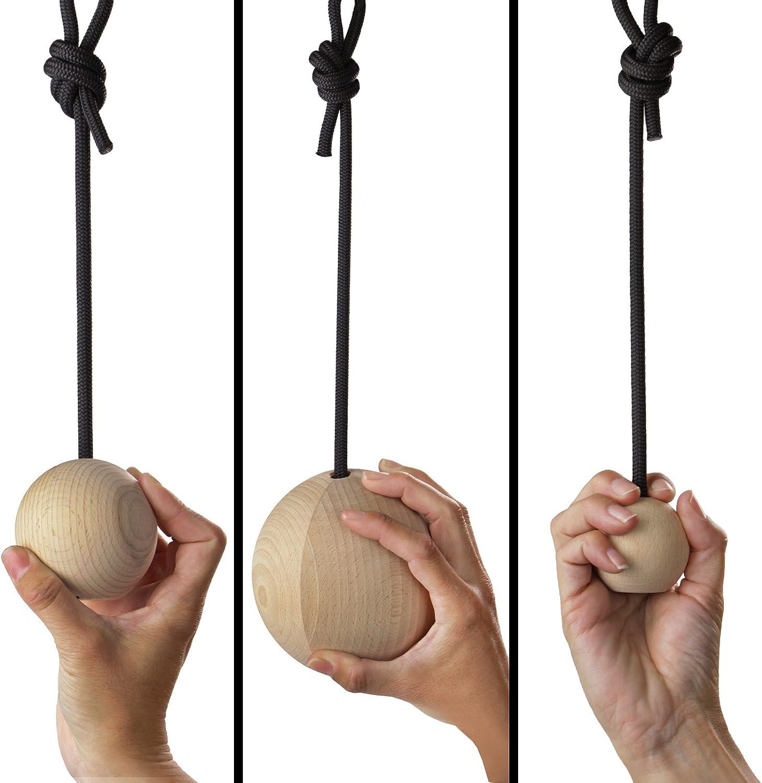 Juego de 2 Bolas de Madera para Entrenamiento de Escalada ALPIDEX 2 Unidades de Bolas de Entrenamiento de distinto tama/ño
