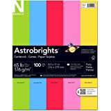 Neenah Astrobrights Premium Color Card Stock Assortment, 65 lb, 8.5 x 11 Inches, 100 Sheets