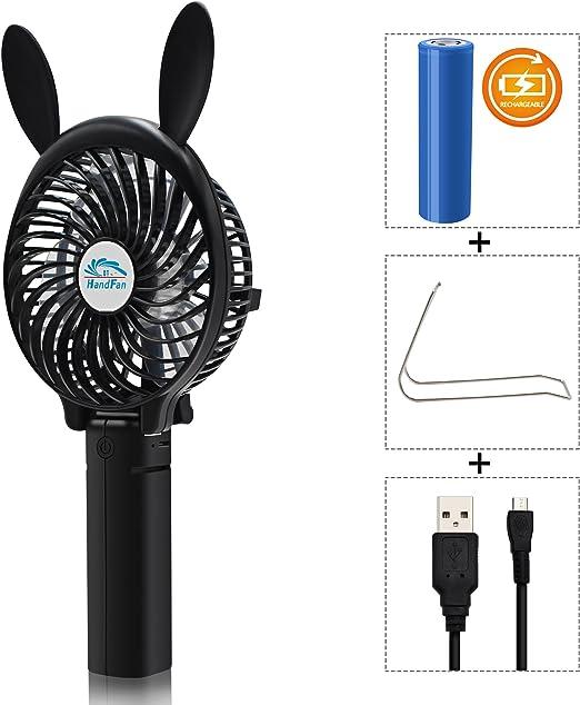 Funciona con pilas Mini USB plegable refrigeración ventilador Personal (batería, portátil, Handheld, paraguas ...