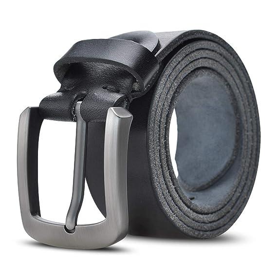 Lychee Cinturón Para Hombres, 100% Cuero Italiana,Traje Para Jeans, Ropa Casual,Ropa de Trabajo,Ropa Formal,Llaveros de Regalo,Marrón/Khaki/Negro