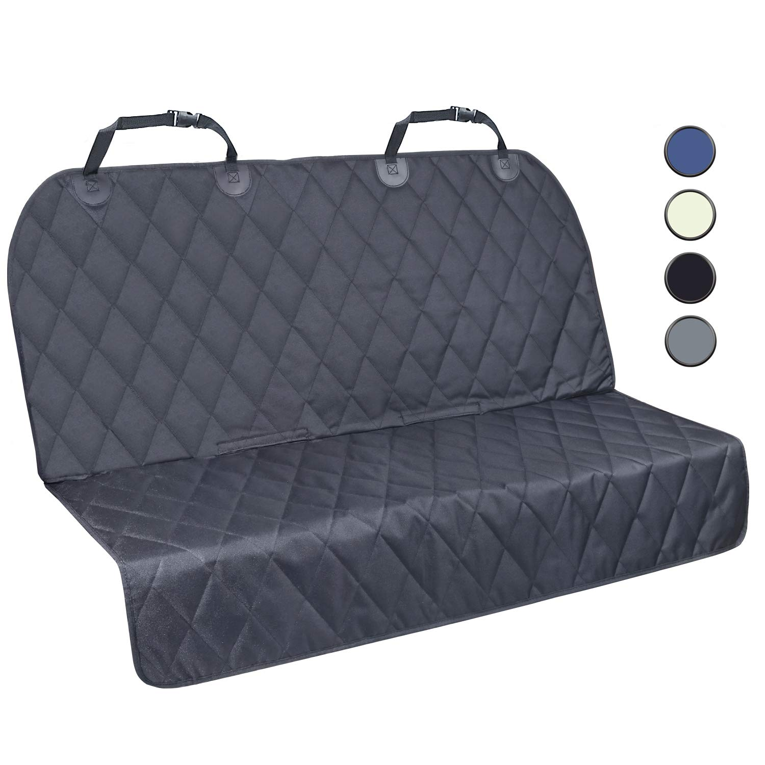 Vivaglory Dog Car Seat Covers with No-Skirt Design, Quilted Durable 600 Denier Oxford 4 Layers Pet Car Protectors with Anti-Slip Backing for Most Cars, SUVs MPVs, Bucket Bench Available
