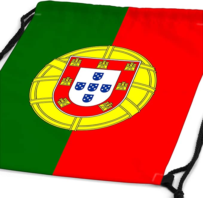 style3 Portugal Fanion Drapeau du Pays National Sac /à Dos Cordon gymsac Drawstring Bag