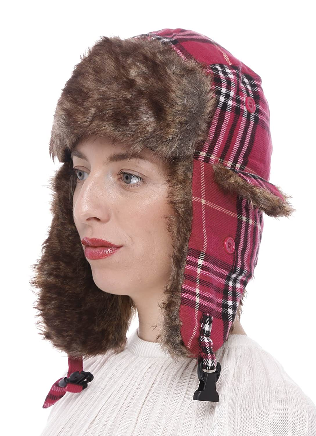Faux Fur Trooper Trapper Aviator Ski Hat Dharma Hats