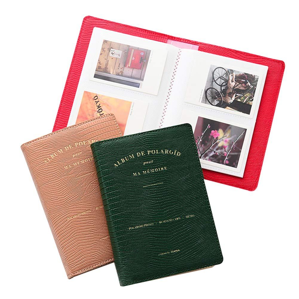 FORUSKY 64 Pockets Mini Photo Album Navy 3-Inch Photo Album for Polaroid Fuji Instax Mini 9//8//70//7S//25//50S//90 Z2300 PIC-300P Film//Memo//Name Card