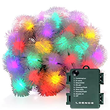 Amazon. Com: chuzzle ball battery operated string lights outdoor.