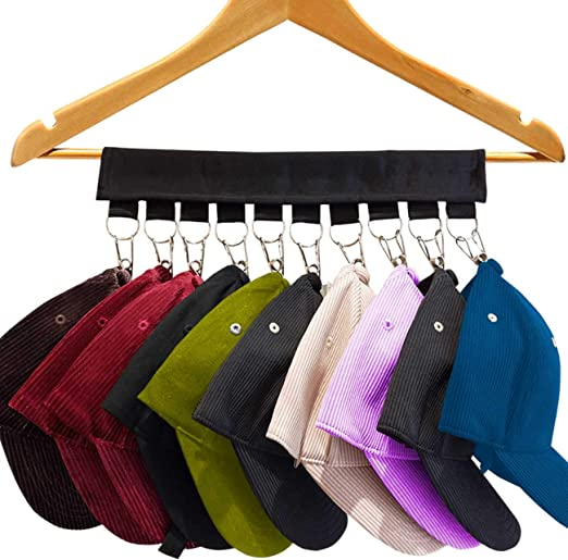 Cap Organizer Hanger 10 Baseball Cap Holder Hat Organizer for Closet