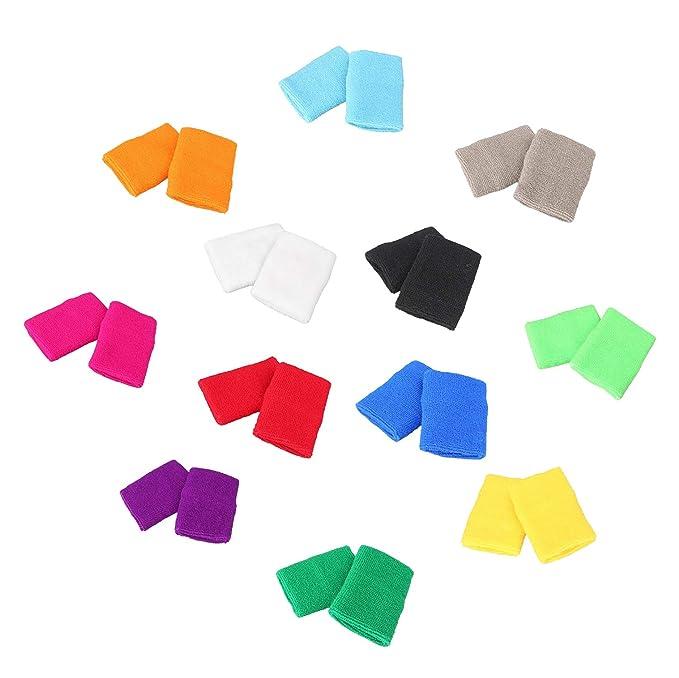 Amazon.com: mallofusa 12 pares de color diferente algodón ...