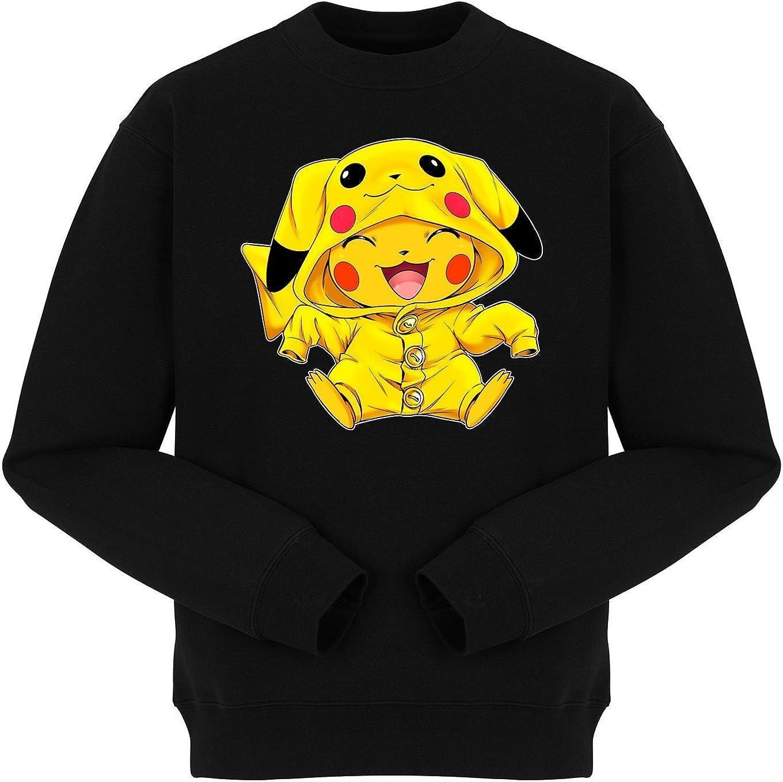 Okiwoki Pull Noir Pok/émon parodique Pikachu Cosplay/é en Pikachu : Imbattable dans Les Concours de Cosplay Parodie Pok/émon :