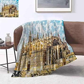Amazon.com: smllmoonDecor Gothic Lightweight Blanket Big ...