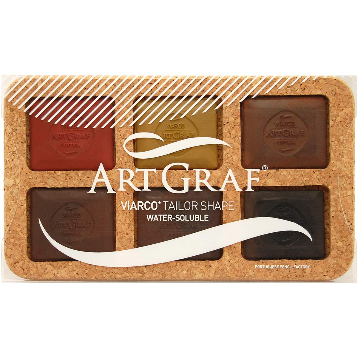 Speedball Art Products 500505 Artgraf Watersoluable Graphite Squares 6/Pkg-Earth Tone by Speedball
