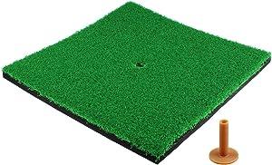 KOFULL Golf Hitting Mats Indoor/Outdoor SBR Golf Mats for Driving Range Practice Backyard Use Green (Long/Short Grass)