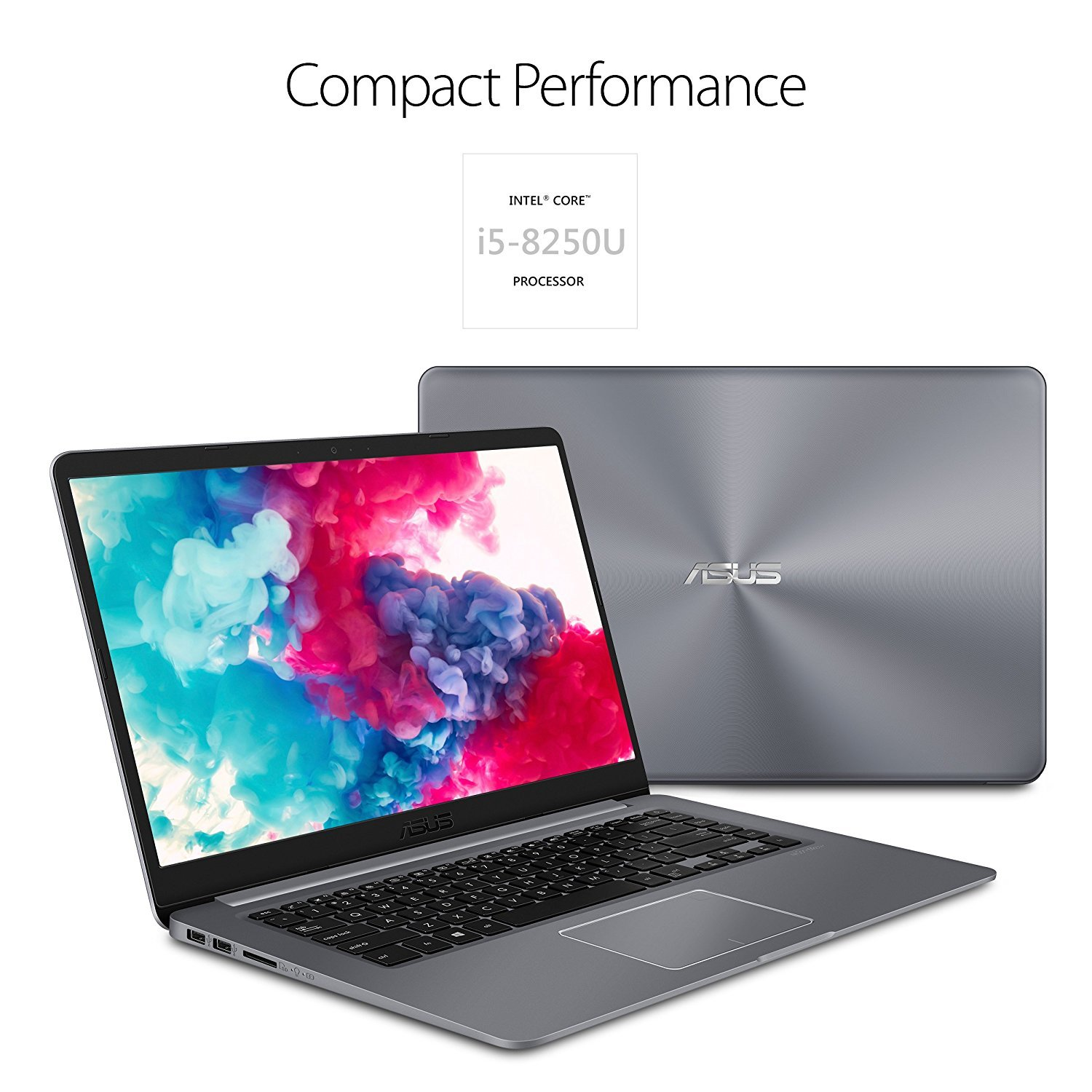 "ASUS VivoBook 15"" Full HD Laptop - 16GB RAM, 128GB Solid State Drive + 1TB HDD, Intel Core i7-7500U up to 3.50GHz, NVIDIA 940MX, USB-C, NanoEdge WideView Display, Windows 10, Gray"