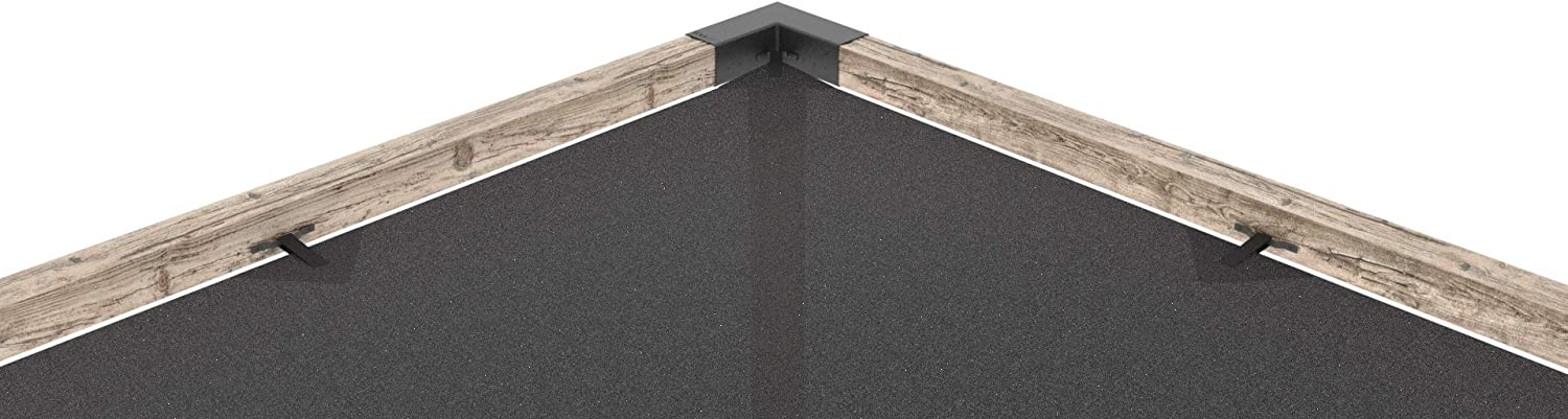 Off The Wall Black for 4x4 Wood Posts Modular Pergola TOJA GRID DS1224GR13 Double System
