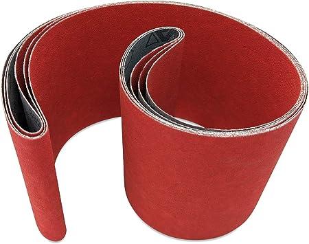 Red Label Abrasives 4 X 36 Inch 180 Grit Metal Grinding Ceramic Sanding Belts Extra Long Life 3 Pack Amazon Com