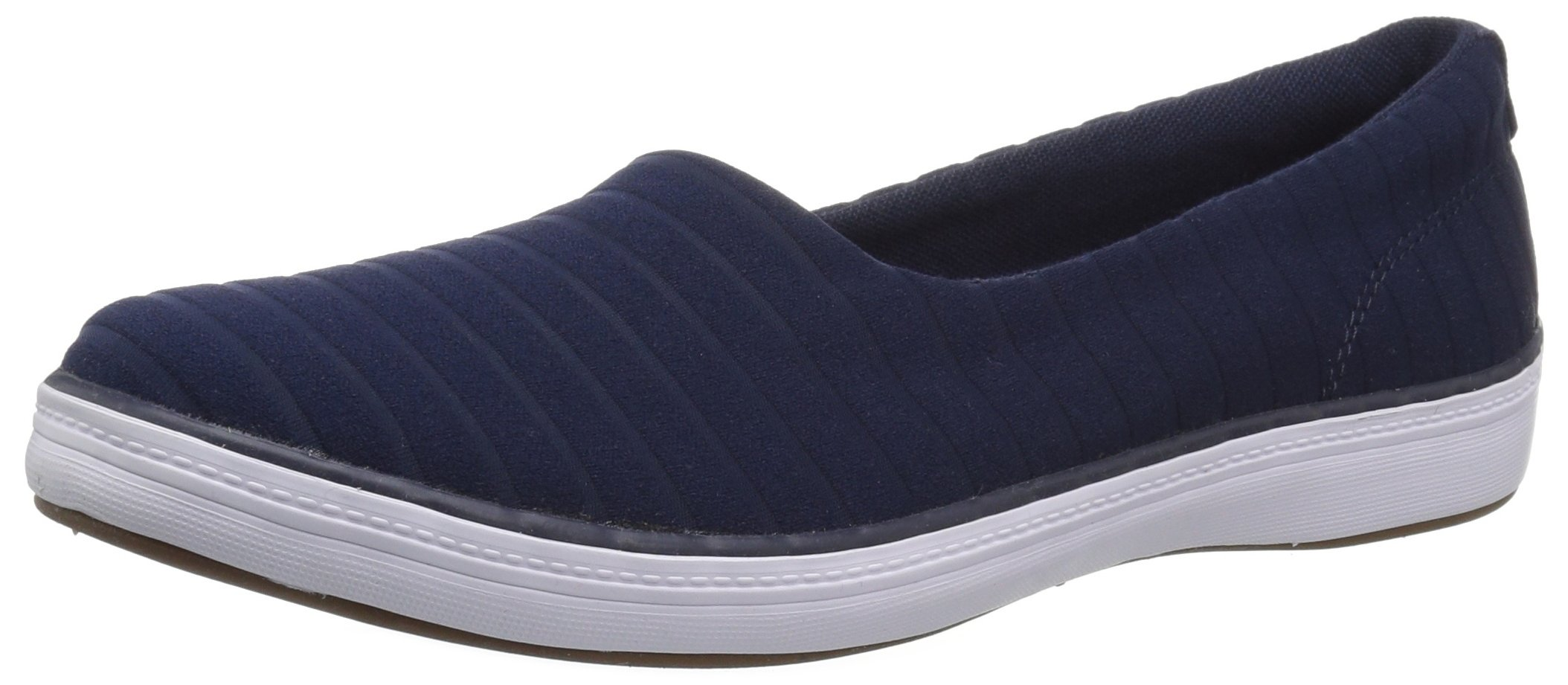 Grasshoppers Women's Lacuna Stretch Stripe Sneaker, Peacoat Navy, 8 M US