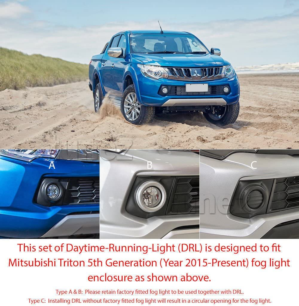 Tunez DRL08 LED Daytime Running Light DRL Drive Lamp For L200 Triton 2015-2017