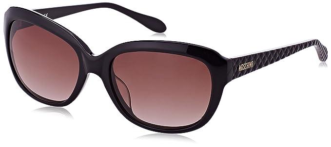 Moschino Damen Sonnenbrille Eye, Schwarz (Nero), 58
