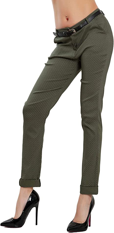 Pantaloni donna classici eleganti tasche cintura vita bassa TOOCOOL VB-2825-1
