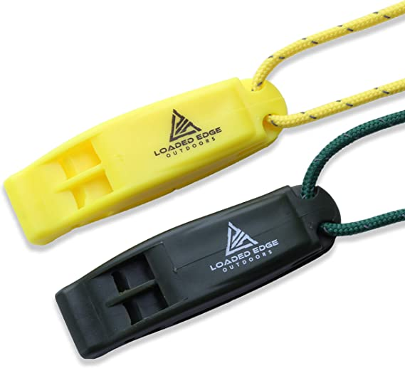 Details about  /1 Piece Lightweight Outdoor Emergency Whistle with Black Wrist Coil Yellow