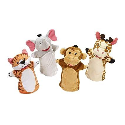Marionetten & Handpuppen Lot 500 Finger Puppets Zoo-Handmade Hand Knit Toy Marionette