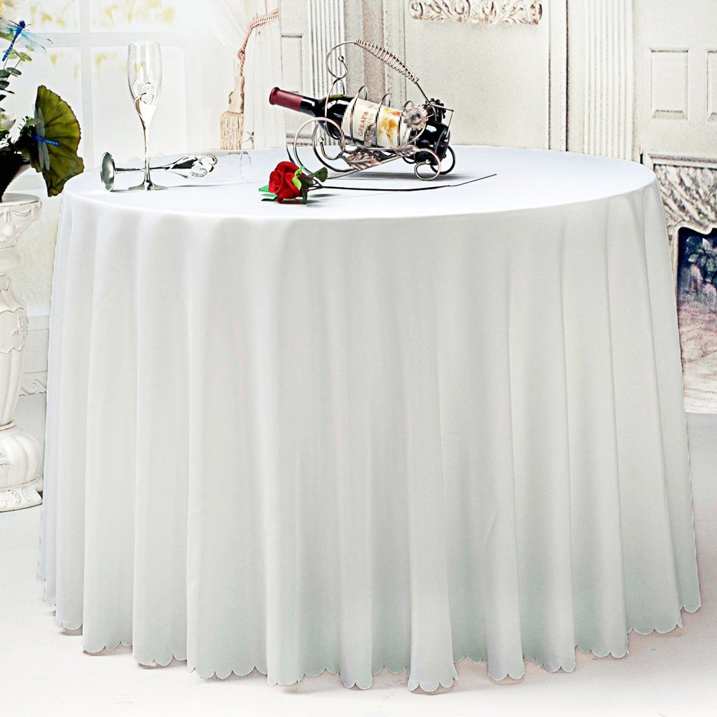Nappe dh/ôtel Nappe ronde blanche taille : 200CM Nappe de table