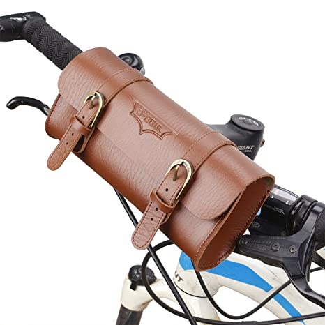 Amazon.com: Desert Camel - Bolsa de piel para bicicleta ...