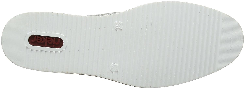Rieker N0312, Scarpe Scarpe N0312, Stringate Derby Donna Argento (Altsilber/Grau/Frost) 6cc854