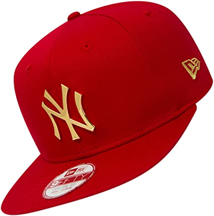 Gorra New Era – 9Fifty Mlb New York Yankees Metal Badge rojo/dorado talla:
