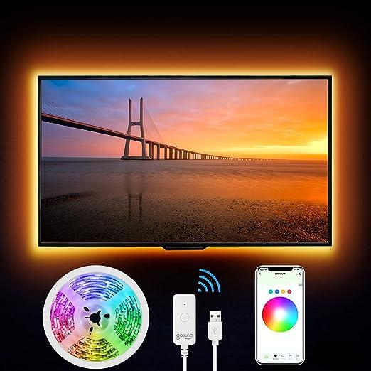 Smart Tiras LED 2,8 m - Gosund WiFi RGB LED tira 5050 regulable, compatible con Alexa, Google Home, función temporizador, luz cinta luminosa flexible para Navidad, bar, fiesta, decoración.: Amazon.es: Iluminación