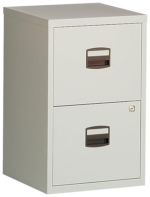 Bisley Steel 2 Drawer Filing Cabinet - Grey: Amazon.co.uk: Kitchen ...