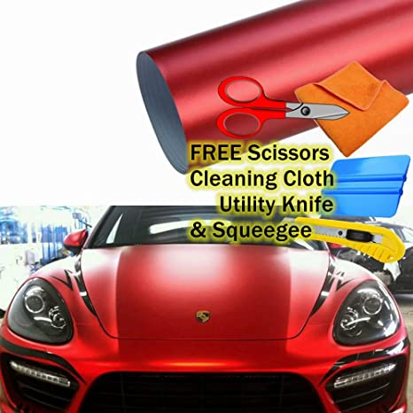*Premium Silver Satin Chrome Matte Metallic Car Vinyl Wrap Sticker Air Release