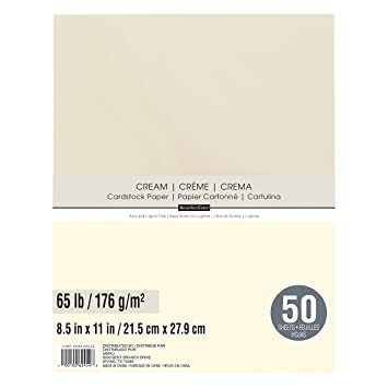 Amazon.com: Recuerdos cartulina Papel, Color Crema colores 8 ...