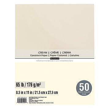 Amazon.com: Recuerdos cartulina Papel, Color Crema colores 8 ...