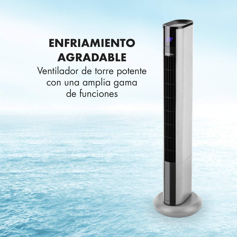Klarstein Skyscraper 3G - Ventilador de Columna, Bajo Consumo, Función oscilación 90º, 3 Niveles de Velocidad ...