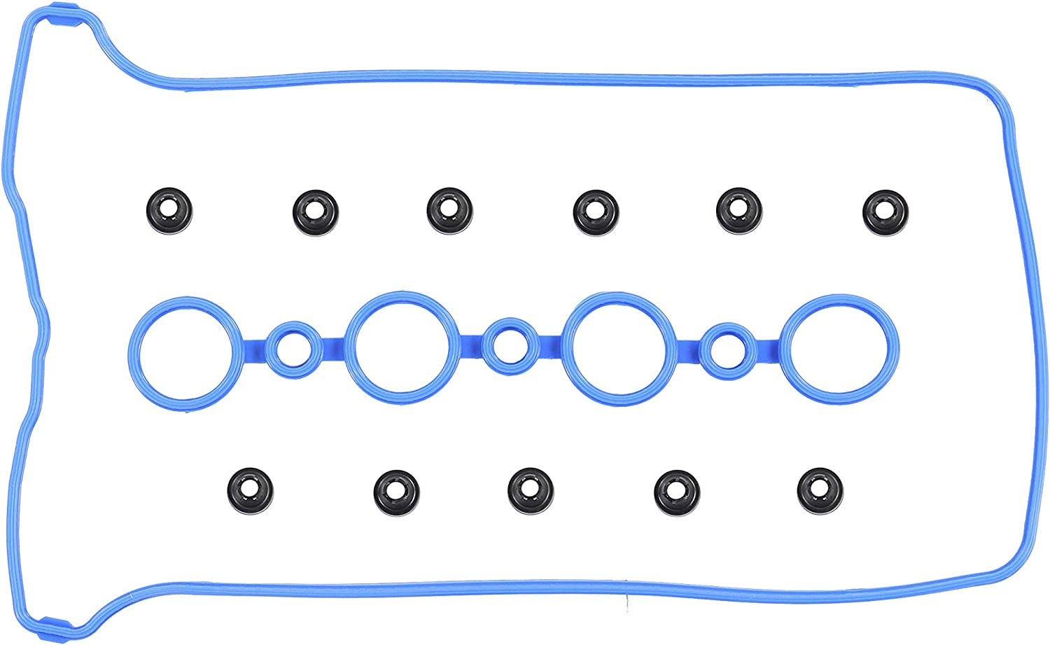 SW2 1.9L L4 DOHC Naturally Aspirated SC2 SL2 DNJ Valve Cover Gasket With Grommets VC312G For 99-02 Saturn