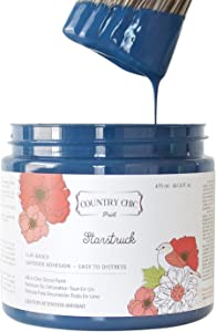 Chalk Style Paint - for Furniture, Home Decor, Crafts - Eco-Friendly - All-in-One - No Wax Needed - Lustrum Collection Colors (Starstruck [Navy Blue], Pint (16 oz))