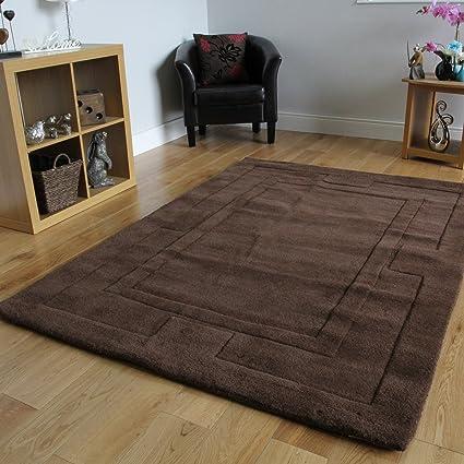 Nueva alfombra para comedor, 100% en lana suave con borde grueso ...