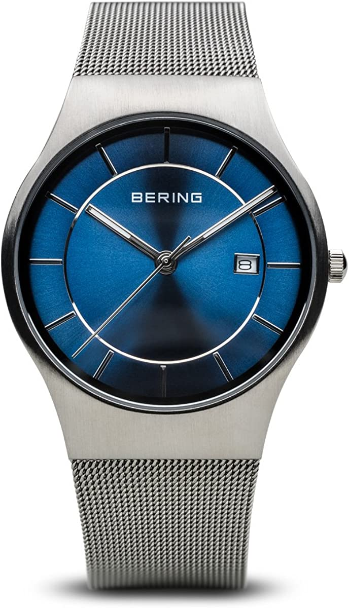 BERING Reloj Analógico para Hombre de Cuarzo con Correa en Acero Inoxidable 11938-003
