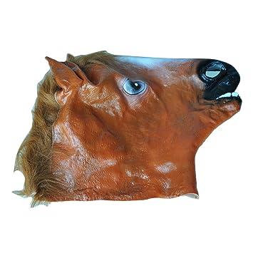 TOOGOO(R) Mascara de caballo de lujo con principal colorante negro y fuego
