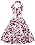 VKStar® Retro Chic ärmellos 1950er Neckholder Audrey Hepburn Kleid / Cocktailkleid Rockabilly Swing Kleid