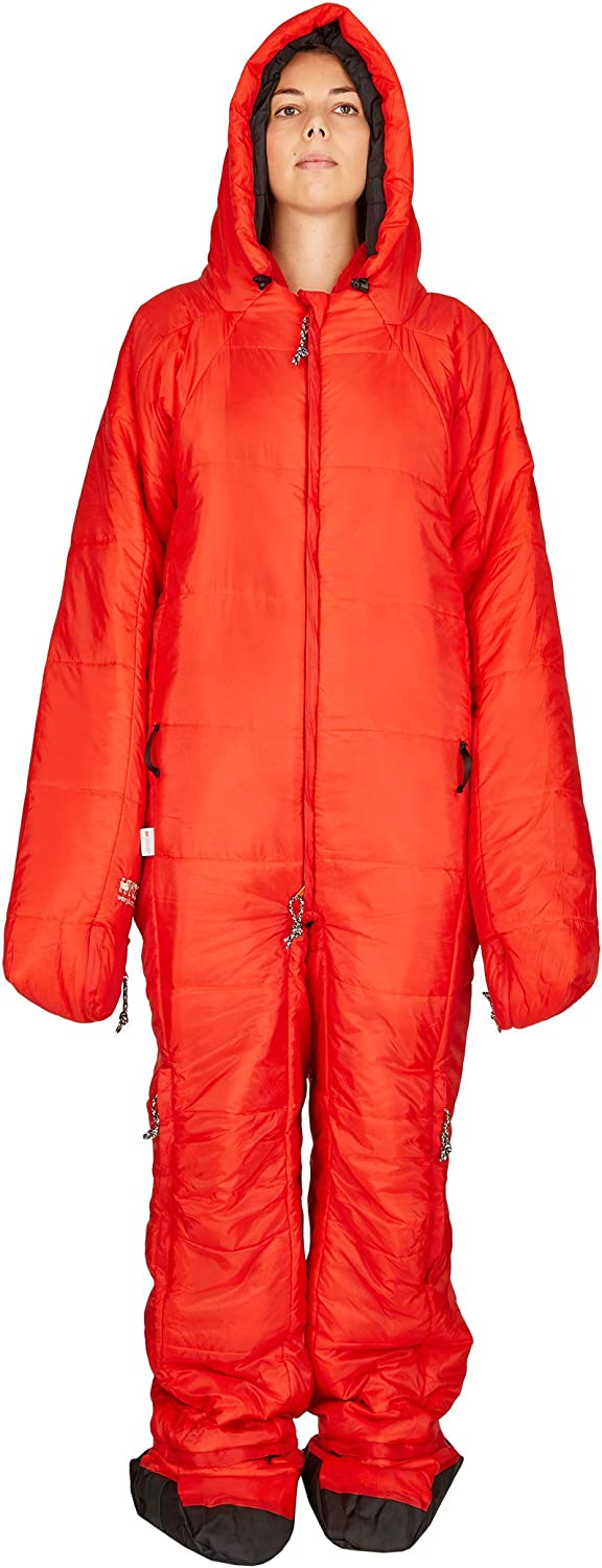 Lightweight /& Small in Pack Size hygger 3M Thinsulate Filling Makes it Warm Original Sleeping Bag with Arms and Legs
