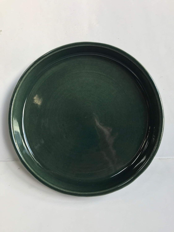 colore: blu in gres //Ø 26/cm ceramica di alta qualit/à K /& K sotto guscio//sottobicchiere rotondo per vaso Venus II senza e con manico 32/x 23/cm/