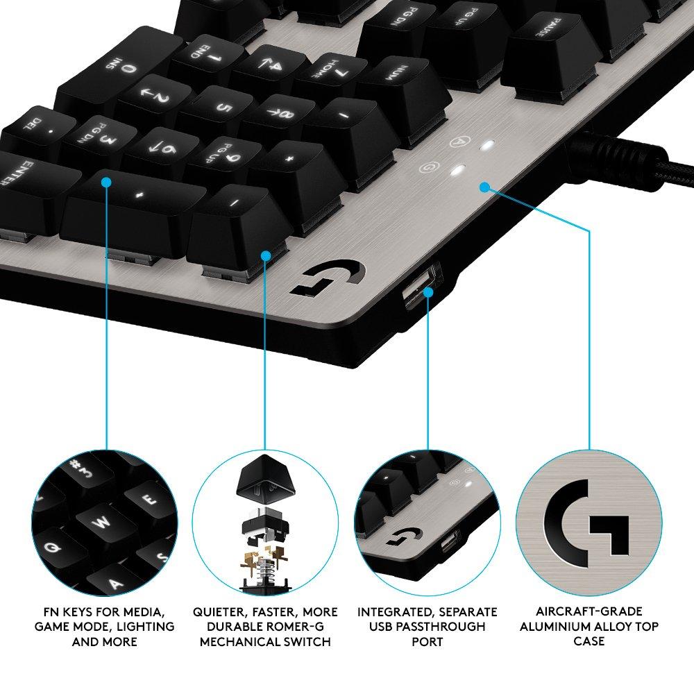 Logitech G413 - Teclado mecánico para gaming, color Plateado (Silver) - UK Distribución: Amazon.es: Informática
