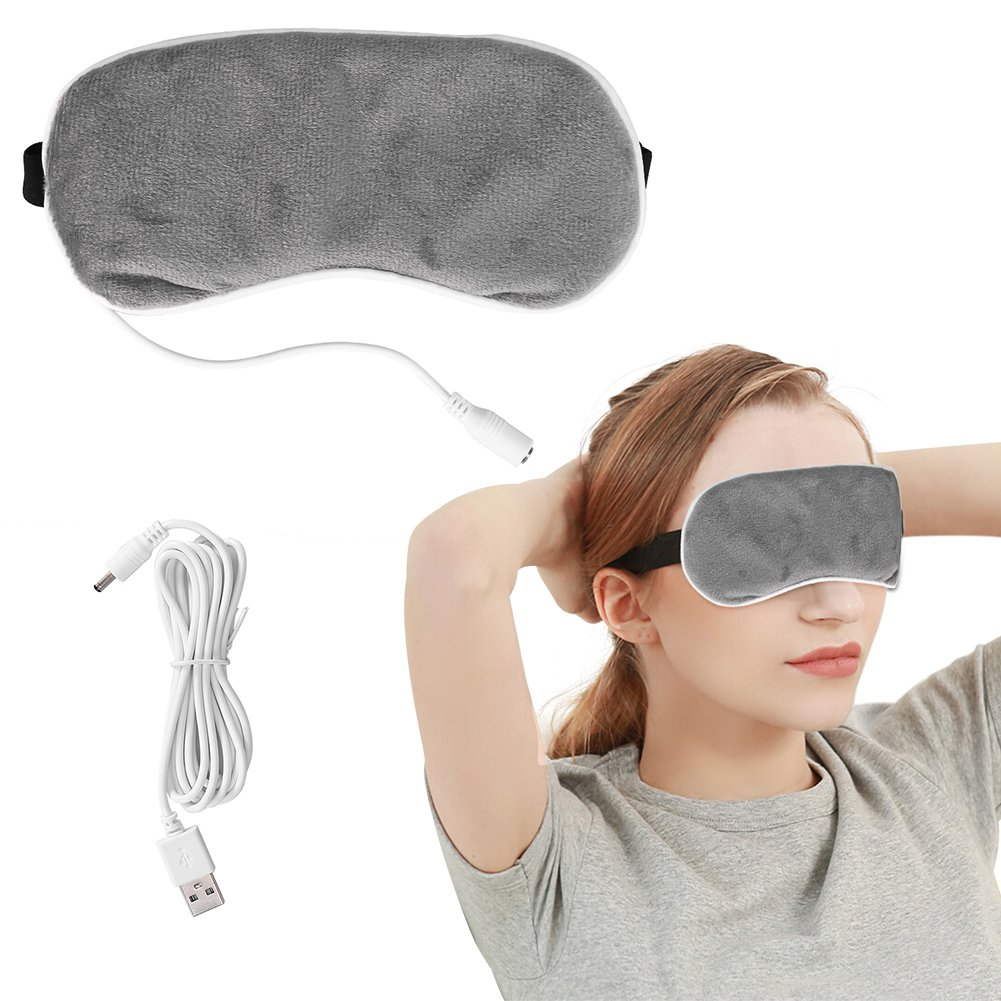 USB Heating Steam Eyeshade, USB Temperature Control Lavender Eye Mask Night Sleeping Travel Eye Cover ZJchao