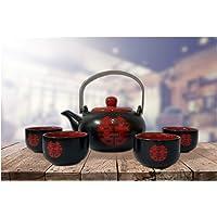 CHIC-FANTASY Teteras y tazas de té, juego de té chino, juego de té de cerámica, juego de regalo