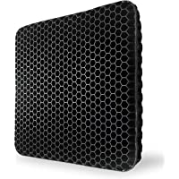 Gel Seat Cushion,Black Double Thick Egg Seat Cushion with Non-Slip Cover Breathable Honeycomb Pain Relief Egg Sitting…