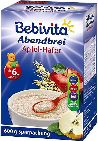 Bebivita Abendbrei avena manzana - a partir de 6 meses, 600g